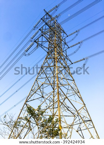 Height voltage electricity pylon system