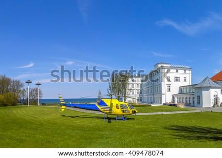 Heiligendamm, Hubschrauber  - stock photo