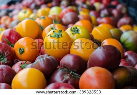 Heirloom Tomatoes at the Santa Monica Farmers Market