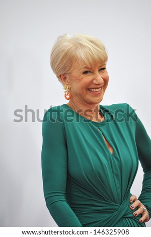 "Helen Mirren at the Los Angeles premiere of her new movie ""Red 2"" at the Westwood Village Theatre. July 11, 2013  Los Angeles, CA"
