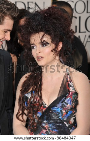 Helena Bonham Carter at the 68th Annual Golden Globe Awards at the Beverly Hilton Hotel. January 16, 2011  Beverly Hills, CA Picture: Paul Smith / Featureflash