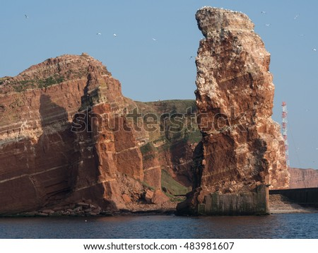 Helgoland in the North sea