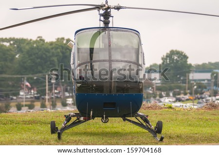 helicopter at the airshow - stock photo