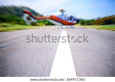 Helicopter computer, blur focus - stock photo