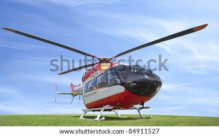helicopter high resolution - stock photo