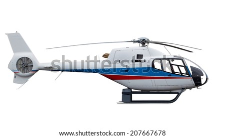helicopter isolated on white background - stock photo