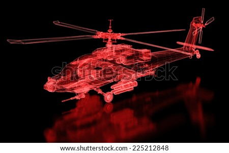 Helicopter Mesh. Part of a series. - stock photo