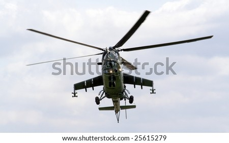 Helicopter Mi-24 Hind - Czech Air Force - stock photo