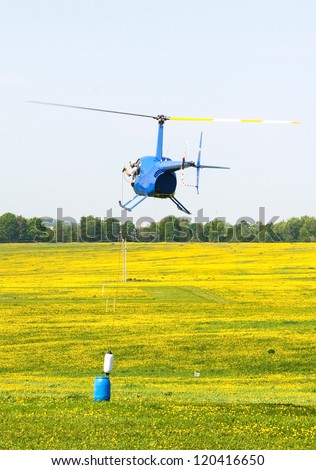Helicopter sport training - stock photo