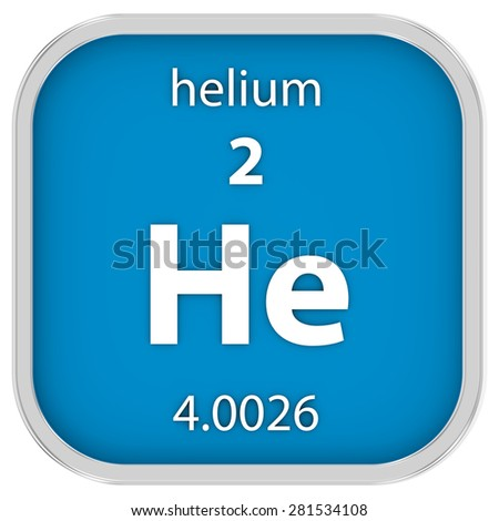 Helium material on the periodic table. Part of a series.
