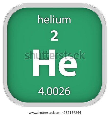 Helium material on the periodic table. Part of a series. - stock photo