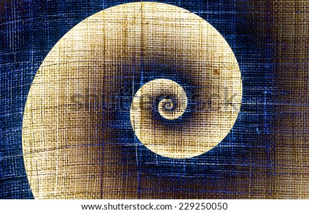 Helix on a rough fabric - spirally concept - stock photo