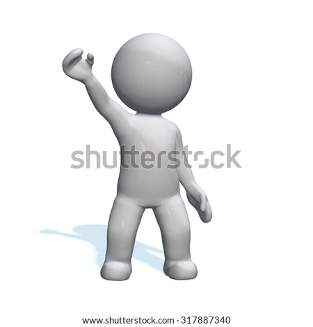Hello - 3D People isolated - stock photo