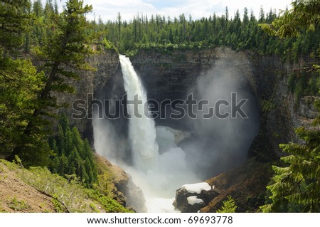 Helmcken Falls - Wells Gray Provincial Park - British Columbia - Canada - stock photo