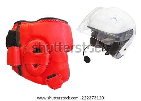 Helmet isolated under the white background