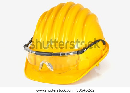 helmet with protection glasses