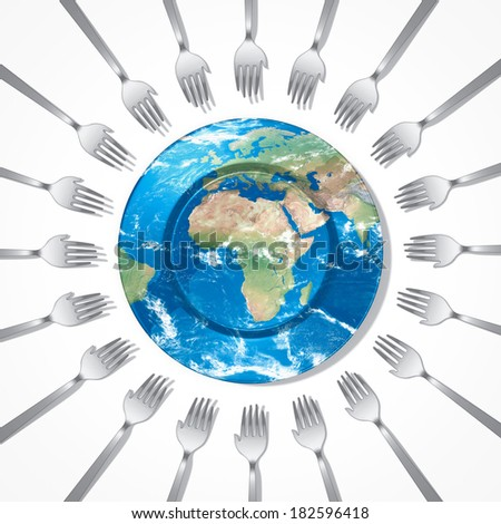 help Africa feed the world Elements of this image furnished by NASA - stock photo