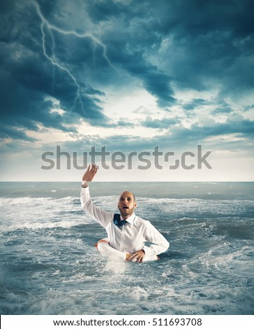 Help businessman falls