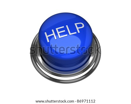 Help button. Isolated on the white background. - stock photo
