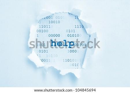Help concept - stock photo