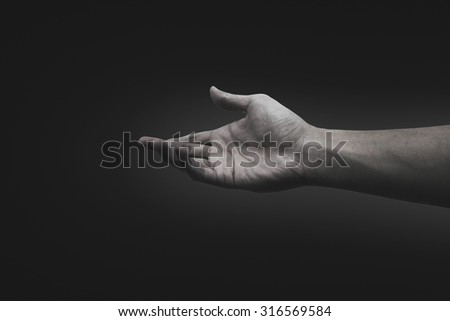 Help Concept . Conceptual Photography - Negative Thinking - stock photo