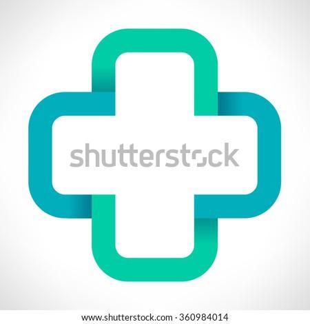 Help cross or pharmacy  - stock photo