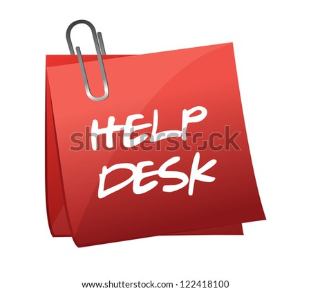 Help desk note illustration design over a white background - stock photo