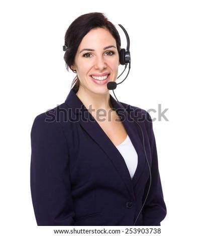 Help desk officer - stock photo
