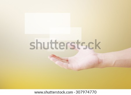 help, empty Hands - stock photo