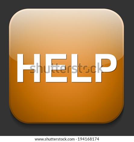 help icon - stock photo