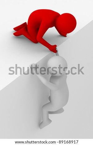 help in a difficult situation. 3D image - stock photo
