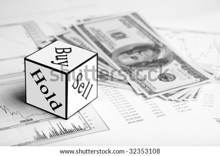 help in stock market game - stock photo