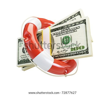 help Life Buoy dollar isolated on a white background