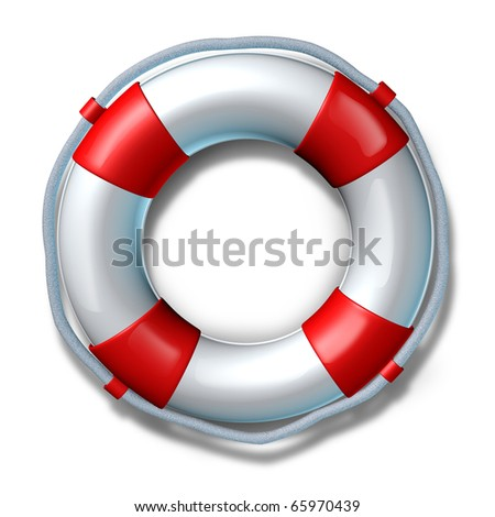 Help life preserver save belt emergency relief isolated