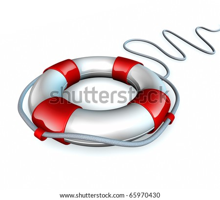 Help life preserver save belt emergency relief isolated rope symbol