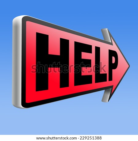 help need support find solution please give a us helping hand if you wanted assistance - stock photo