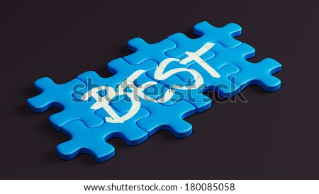 Help Puzzle isolated on black background