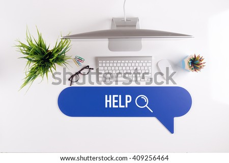 HELP Search Find Web Online Technology Internet Website Concept - stock photo