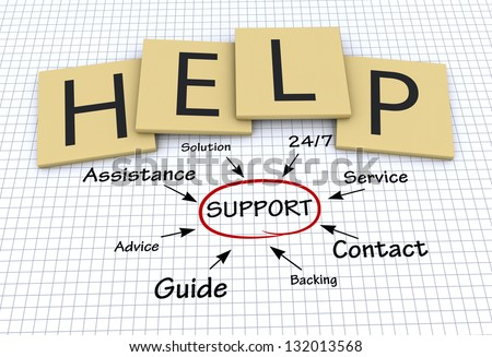 Help, support concept - stock photo