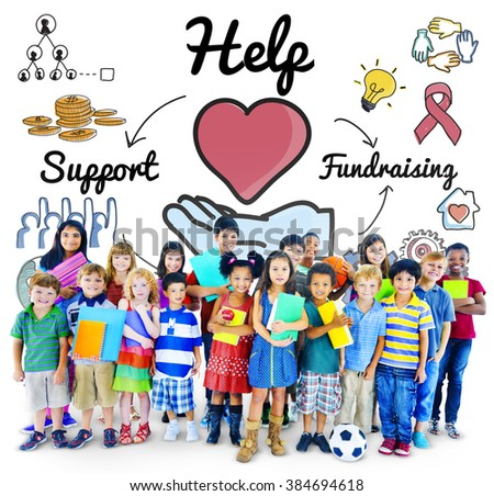 Help Support Fundraising Donate Charity Concept