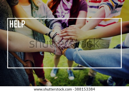Help Support Rescue Service Donate Concept - stock photo