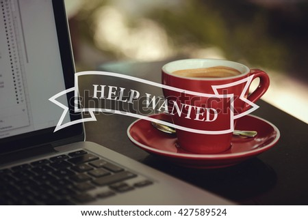 Help Wanted - stock photo