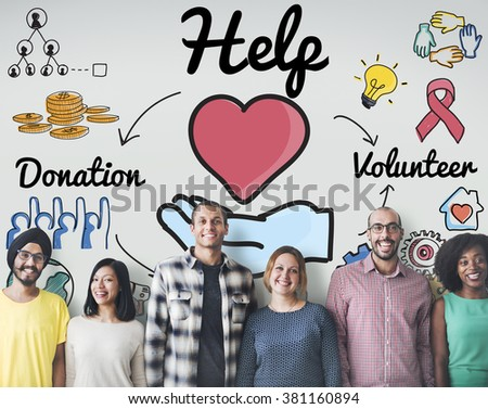 Help Welfare Hope Donations Volunteer Concept - stock photo