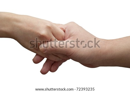 Helping hand gesture - stock photo