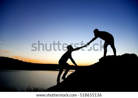 helping hand take my hand heartenの写真素材 ロイヤリティフリー