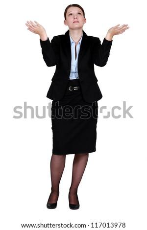 Helpless woman - stock photo
