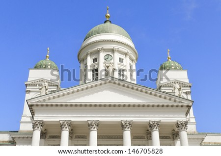 Helsinki Cathedral, Finland. - stock photo
