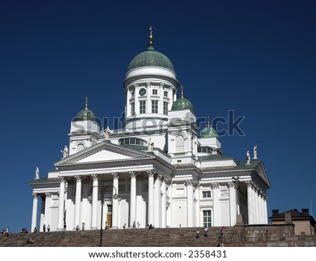 Helsinki Finland Cathedral - stock photo