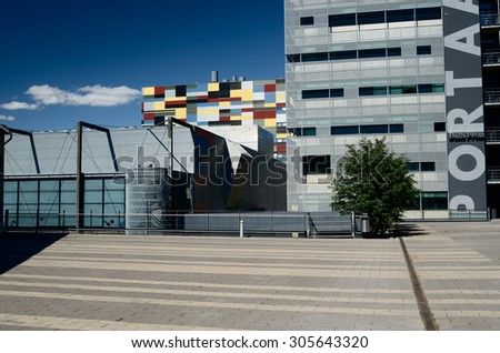 """HELSINKI, FINLAND - JUNE 19, 2013: The Arabia district is a creative community and a """"living residential laboratory."""" - stock photo"""