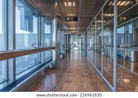 HELSINKI, FINLAND - OCTOBER 18, 2014: Helsinki, Finland. Vantaa Airport is the main international airport of the Helsinki metropolitan region and the whole of Finland